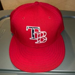 New Era Fitted American Flag Tampa  Bay Rays Hat